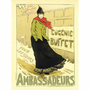 Theatre Cultural Music Singer Eugenie Buffet France Paris Advert Canvas Print