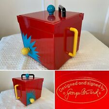 Vintage 1980's Georges Briard Memphis-Style Retro Multi-Color Square Ice Bucket