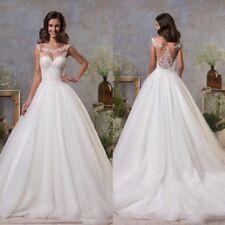 Wedding Dresses Sleeveless Scoop Neck Bridal Ball Gowns Petites Plus Size Custom