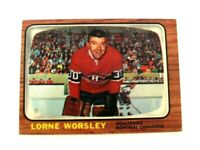 1966-67 Topps Lorne Gump Worsley Card #2 - Montreal Canadiens