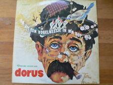 LP RECORD VINYL DORUS ER ZIT EEN VOGELNESTJE IN M'N KOP TOM MANDERS