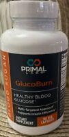 Primal Labs GlucoBurn Healthy Blood Glucose Sugar 90 Veggie Capsules, Sealed