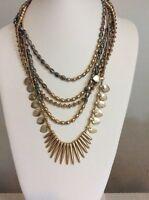 Lucky Brand Jewelry JLRY4512 Abalone Multi-Layer Necklace $69 #379A