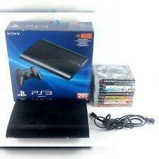 Sony Playstation 3 250GB CECH-4001B Super Slim PS3 Games No Controller HDMI Cord