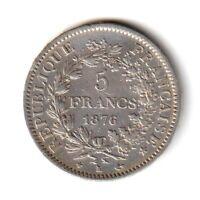 5 FRANCS 1876 K Hercule Bordeaux F.334/18 - TTB+