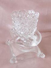 Porte-allumettes cure-dent en cristal XIXème marmotte dans le gout de Baccarat