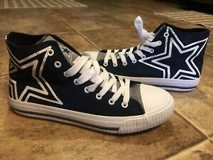 Dallas Cowboys NFL High Top Big Logo Canvas Shoes FOCO, Men's Size 9 NWOB