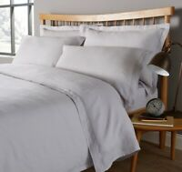 Christy Vintage Washed 100% Linen Silver Single Duvet Cover Only RRP£120