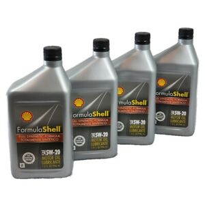 Shell Motor Oil Full Synthetic 5W20 excellent engine protection 1QT -4 Pack