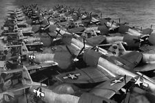 P-47N Thunderbolt Fighters Uss Casablanca Flight Deck 4x6 World War Ii Photo 65