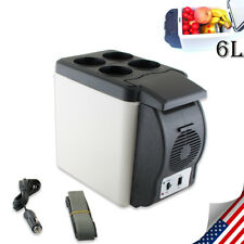 US SELL Electronic 6L 12V Cooler Warmer Car Fridge Travel Vehicle Refrigerator