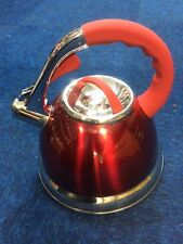 Prima 3.5ltr Stainless Steel Whistling Kettle! Red!