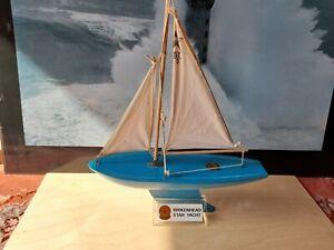 Star SY2 blue sailing yacht. Made in Birkenhead,Cheshire,England.