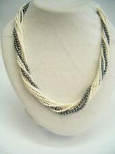 Collana con PERLE di fiume naturali, EMATITE e Argento 925 - girocollo - collier