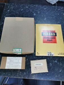Vintage Ilford, M&H & Gaslight plates, Photographic Paper