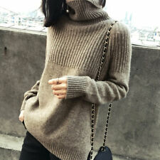 Women Cashmere Sweater Casual Slim Fit Knitted Turtleneck Pullover Warm Jumper