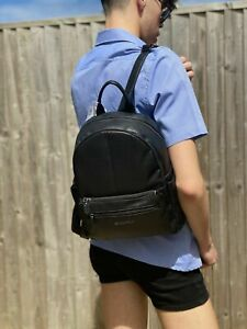 """Authentic Valentino """"Steady Nero"""" VBS36O01 black Backpack + Dust Bag"""
