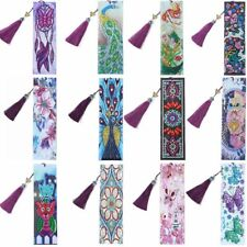 Diamond Painting Leather Bookmark Embroidery Craft Tassel Book Marks for Books