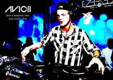 Avicii Poster - # 19 - A3 RETRO Poster - DJ Legend - 420mm x 297mm new