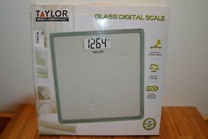 NIB Taylor Glass Digital Bath Scale