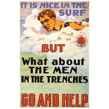 Go and Help Australian Recruiting Poster Deco FRIDGE MAGNET, 1917 World War