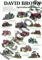 (A3) David Brown Case Tractor Poster Brochure Collection History 1936-1980