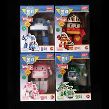 4pcs Robocar POLI Roy Helli Amber Transformer Robot Genuine Toy Korean Animation