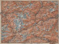 ST GOTTHARD area. Andermatt Engelberg Silenen Gadmen Ulrichen Disentis 1913 map