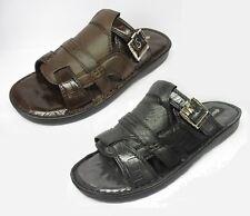 Sandali e scarpe casual nero in pelle sintetica per il mare da uomo