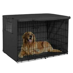 Explore Land 42 inches Dog Crate Cover - Durable Polyester Pet Kennel Cover Univ