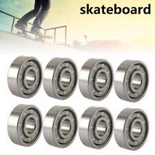 16 Pcs ABEC 11 Scooter Bearings Wheels Black Shields Silver 608rs AU Stock