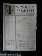 INTERNATIONAL THEATRE INSTITUTE WORLD PREMIER - DEC 1963 VOL 15 #3