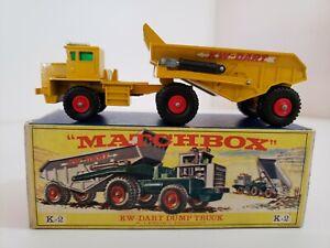 Vintage Lesney Matchbox King Size -KW-Dart Dump Truck No.K2