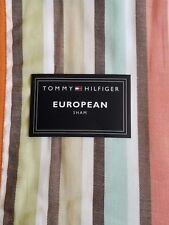 New Tommy Hilfiger Enfield Stripe Euro Pillow Sham