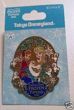 NEW Tokyo Disneyland Anna Elsa Frozen Fantasy Pin Olaf snowgies 2016 Japan TDR