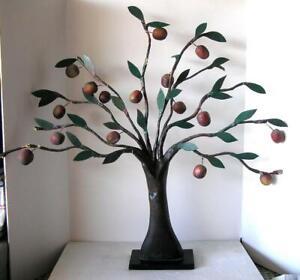 "Folk ART Papier Mache Sculpture Large Apple TREE ""Earth's Hands"" by Jack GRIM"