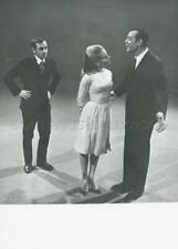 GEORGES GUETARY  CHARLES AZNAVOUR 1965 PHOTO  ORIGINAL  ORTF TV