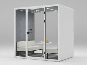 Office 4 Person Meeting Booth/Pod. Speech Range Soundproof. Zoom/Teams Room