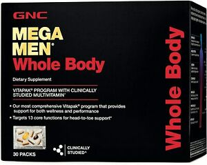 GNC MEGA MEN WHOLE BODY VITAPAK® PROGRAM 30 Packs Exp. 06/2021 FACTORY SEALED