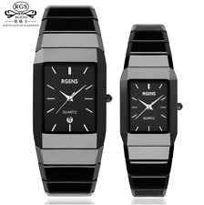 Luxury Ceramic square watches for women mens couple black men's women's