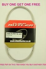 """STAINLESS STEEL MTB GEAR INNER CABLE 230cm 90"""" CLAUD BUTLER BUY ONE GET ONE FREE"""