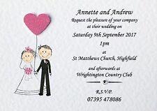 Handmade Sample Wedding Invitation Day or Evening