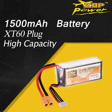 ZOP Power 11.1V 1500mAh 40C 3S Lipo Battery XT60 Plug For RC  Drone Car Boat