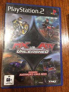 MX Vs ATV Unleashed, PS2, good cond, complete, tested