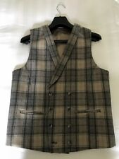 Fox Brothers Flannel Double Brested Waistcoat Size Small 36-38