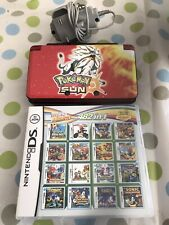 Nintendo 3DS Pokemon Style With Docking Station And Charger Includes Games