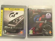 2 x PS3 PLAYSTATION 3 RACE RACING GAMES GRAN TURISMO 5 / V & 5 PROLOGUE PAL