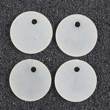 50 cuentas de flor de acrílico Lucite Esmerilado Blanco 14 mm Calidad Superior LUC10