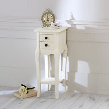 Avorio da comodino piccole Chateau SIDE TABLE 2 CASSETTI DECORATA Slim Francese Vintage Chic