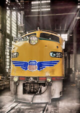 Union Pacific E9 951 20x30 train photo canvas wall art roundhouse locomotive